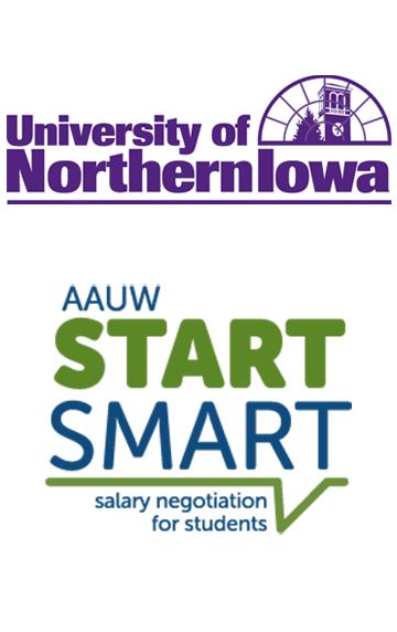 AAUW Start Smart and UNI Logos
