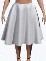 Computer Generated Skirt Model