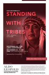 Standing with Tribes Poster from 2018-2019 Leopold Lecture Series.