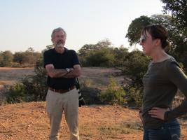 Sarah and Dr. Craig Packer at Kruger National Park, Mpumalanga, South Africa
