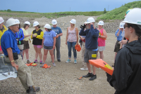 IGRT Teachers learning about geology at a quarry.