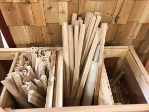 Wooden ramps cut and ready to use for the Ramps and Pathways Program.