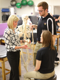 Hands on education in UNI's Athletic Training Program.