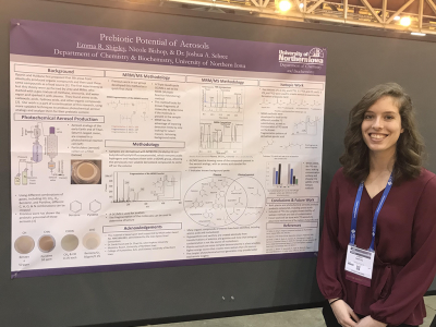 Emma Shipley Presenting her Undergraduate Research