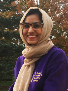 Ameera Tahir, UNI Environmental Health & Biology Major