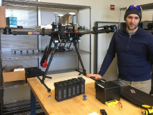 Dr. James Dietrich with his largest drone