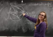 Jaclyn Miller, UNI Mathematics Education major