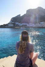 Italy Capstone Student Enjoying the sun and beautiful waters of the Mediterranean