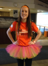 Alexis Steinlage is ready to have some fun at UNI's Dance Marathon!