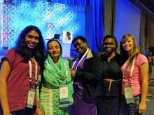 Women in Computer Science members at conference